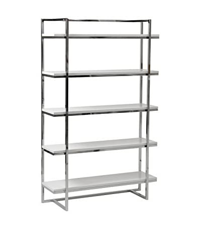 Euro Style Gilbert 5-Shelf Unit, White