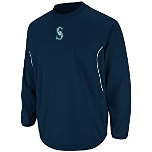 MLB Seattle Mariners Therma Base Tech Fleece, Navy White by Majestic