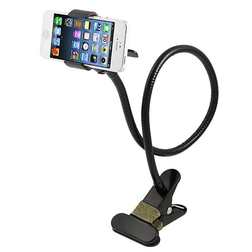 Chromo Inc FlexHold 27″ Black Gooseneck Clamp Holder for iPhone, Galaxy, Android and any other Phone. Great for Bedroom, Kitchen, Office, Bathroom and more
