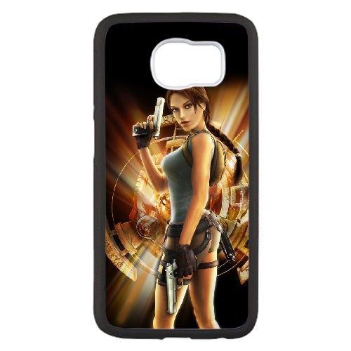 B3C76 lara croft tomb raider anniversary O5E5JH cover Samsung Galaxy S6 Cell Phone Case Cover Black DB6UHW2HW