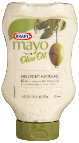 Kraft Mayo with Olive Oil, Reduced Fat Mayonnaise, 18-Ounce Squeeze Bottles (Pack of 4)