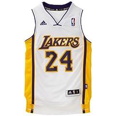 NBA Los Angeles Lakers Kobe Bryant Swingman Jersey, White by adidas