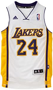 NBA Los Angeles Lakers Kobe Bryant Swingman Jersey, White by adidas