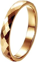 Queenwish 3mm Gold Mercury Multi Faceted High Polish Tungsten Carbide Wedding Rings Sz 5-10