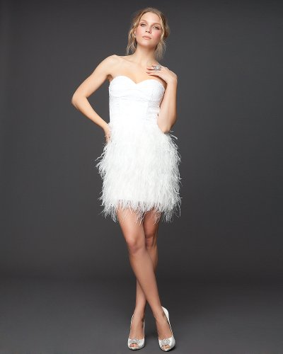Intercontinental apparel and accessories bebe isis sequin for White feather wedding dress
