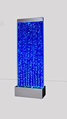 "72""x19"" XXL Bubble Fountain, Standing Bubble Panel, Color Lights/ Remote Ctrl By Jersey Home Decor"
