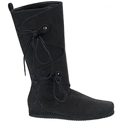 Black Viking Mens Renaissance Costume Boots - L