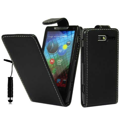 magic-global-gadgets-new-stylish-black-magnetic-flip-pu-leather-case-cover-pouch-for-motorola-razr-i