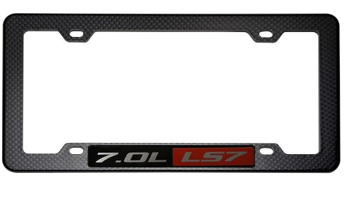 BLACK CARBON FIBER Look LICENSE Plate Tag FRAME