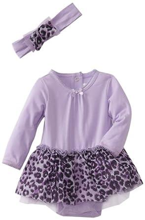 Vitamins Baby-Girls Newborn 2 Piece Dress Set, Purple, 6 Months