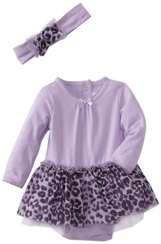 Vitamins Baby-Girls Newborn 2 Piece Dress Set, Purple, 9 Months