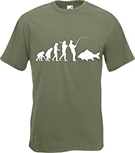 Evolution of Carp Fisherman Fishing Angler T-Shirt TShirt All Szs and Clrs by Fruit of the Loom