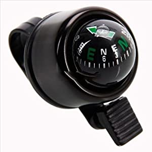 Metal Bike MTB Cycling Horn Loud Handlebar Bell Ring with Compass Bicycle Cycle