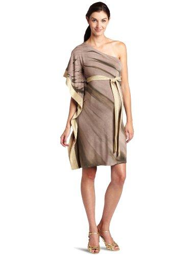 Nuka Women's Maternity Asymmetric  Dress, Cashmere, Large