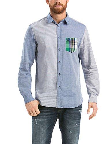 Desigual - CAM_CARLOS, Camicia da uomo, blu (celeste), L