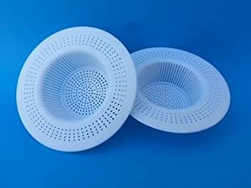 pk aqua 2 pcs kitchen sink waste filter strainer pvc cup to avoid clogging of sink - Kitchen Sink Filter