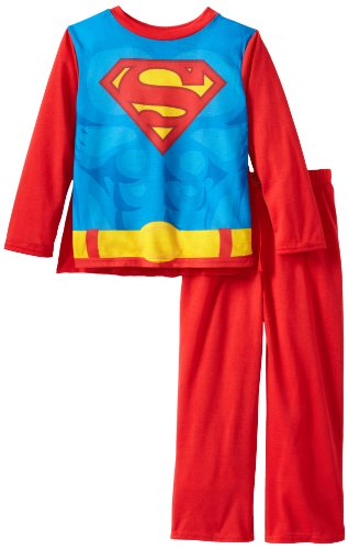 Komar Kids Little Boys' Superman Costume Sleep Set with Cape