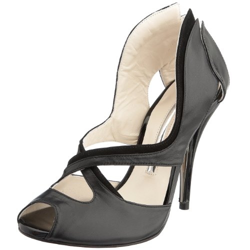 Strutt Couture Women's Lady Peep-toe Heel Black SCS1024 5 UK