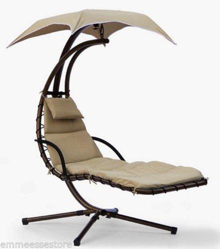 Amaca extra lusso relax da giardino in metallo con tettuccio e cuscino