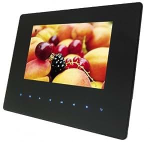 Braun DigiFrame 7050 SLT Digitaler Bilderrahmen (18 cm (7 Zoll) LCD-Display 768x480 16:10 Super-Slim-Design (9mm) mit Touch-Sensoren Acrylglas) schwarz