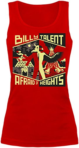 Billy Talent Afraid Of Heights Top donna rosso M