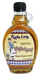 Waffle Lady 100% Pure Organic Maple Syrup 8 oz.