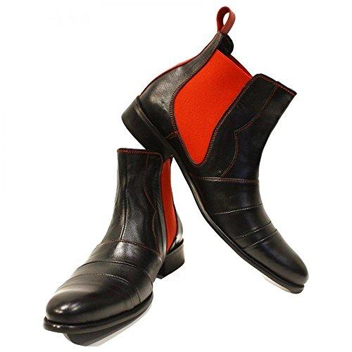 Modello Loretto - 42 UE - fatti a mano scarpe di cuoio italiane colorate scarpe casual formale Premium Unique caviglia stivali in pizzo degli uomini di travestimento dell'annata delle