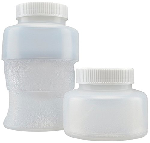 Flex Collect 201319 1000 Ml Collapsible Ldpe Container, 70 Mm White Screw Cap (Pack Of 12) front-77568