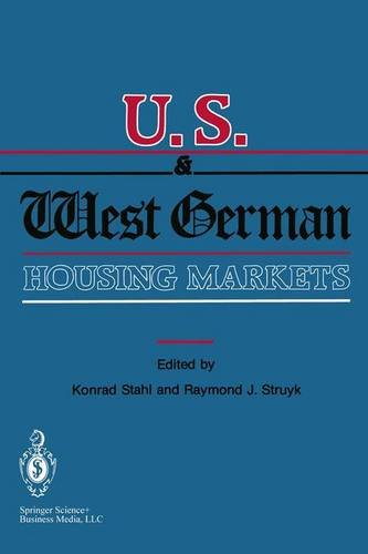 U.S. and West German Housing Markets: Comparative Economic Analyses