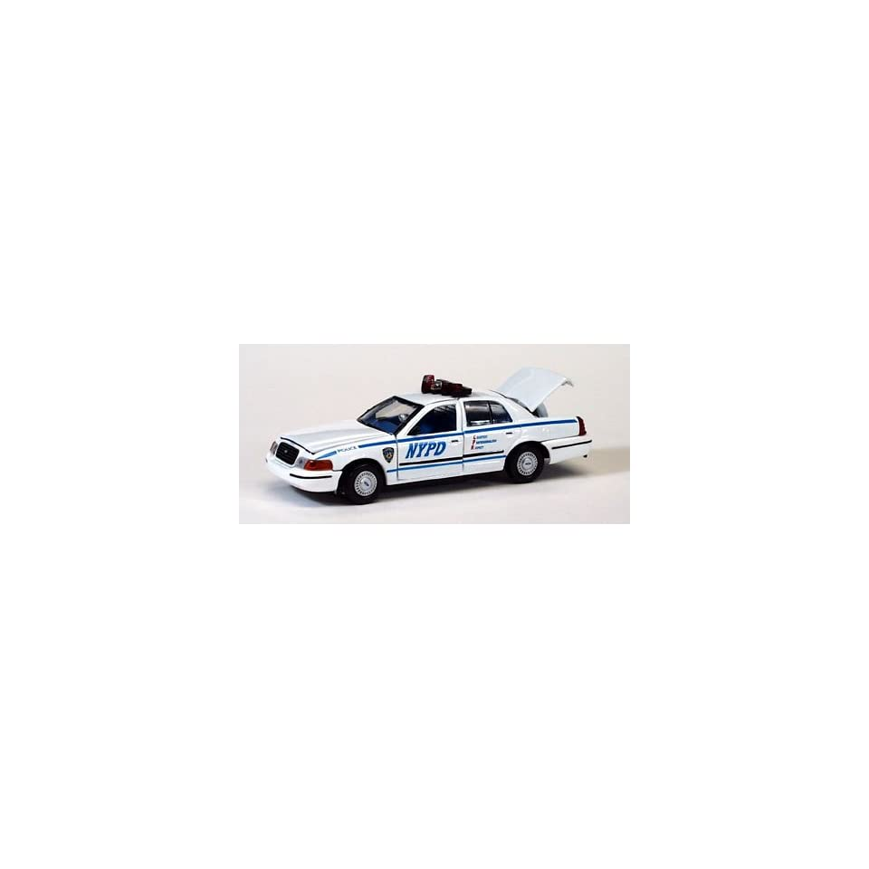 GEARBOX COLLECTIBLE 143 MINT PRECISION SERIES NEW YORK CITY POLICE DEPARTMENT 1999 FORD CROWN VICTORIA POLICE INTERCEPTOR DIE CAST CAR