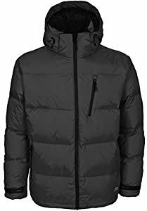 Trespass Mens Igloo Down Jacket - Available in 3 Colours-Black-XS