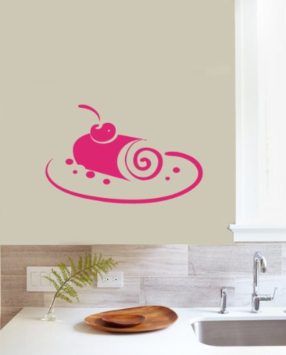 Housewares Vinyl Decal For Kitchen Cupcake With Cherry Home Wall Art Decor Removable Stylish Sticker Mural Unique Design For Any Room back-983791