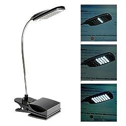New USB Flexible 28 LED 3 Modes Clip on Desk Lamp Beside Bed Table Reading Light