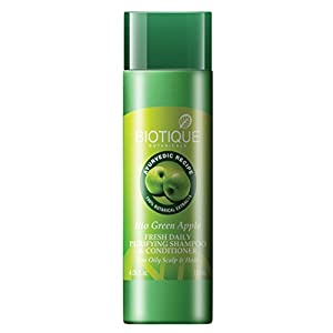 Biotique Bio Green Apple Fresh Daily Purifying Shampoo & Conditioner For Oily Hair & Scalp, 190ml
