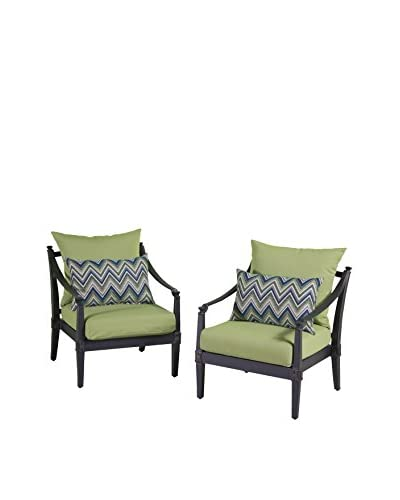 RST Brands Astoria Set of 2 Club Chairs, Green