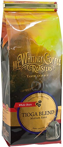 Mt. Whitney Coffee Roasters: 12 Oz, Medium Roast, Tioga Blend, Whole Bean Coffee