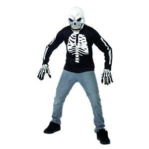 Amazon.com: Skelettkostüm Kostüm Skelett Pullover Sleeve Gr. 158-164