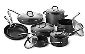 Simply Calphalon Nonstick Hard-Anodized 14-Piece Cookware Set by Calphalon