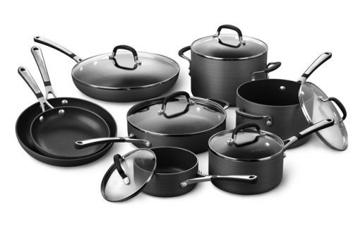 Simply Calphalon Nonstick Hard-Anodized 14-Piece Cookware Set