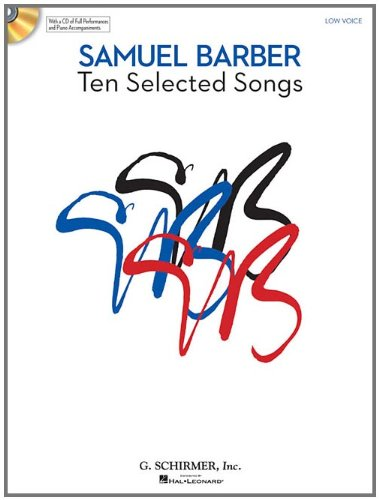 10 Selected Songs: Low Voice Book/CD Pack (Tapa Blanda)