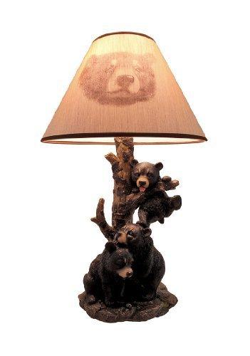 black-bear-family-table-lamp-w-tree-bark-print-shade-by-things2die4