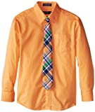 Nautica Dress Up Boys 8-20 Packaged Shirt Sets with Tie, Melon, 12
