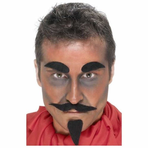 Smiffys Devil Facial Hair Set - Black - 1
