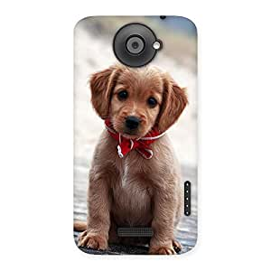 Impressive Looking Puppy Multicolor Back Case Cover for HTC One X