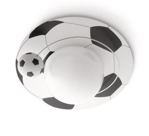 Philips Calco Lampada da Soffitto Bambino, Motivo Pallone da Calcio, Diametro 33 cm, Lampadina Risparmio Energetico