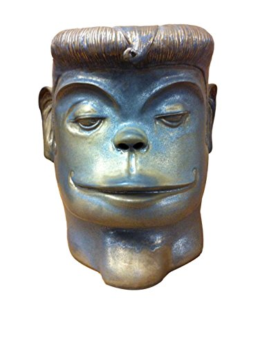 Asian Art Imports Ape Man Stool, Green