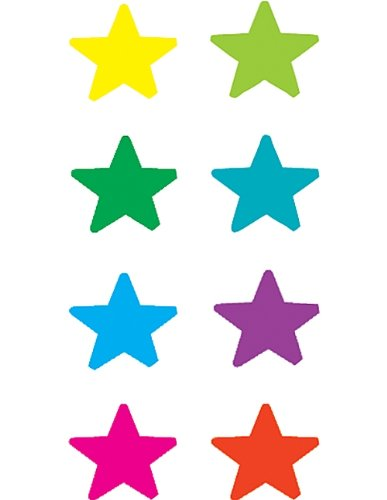 Teacher Created Resources Stars Mini Stickers, Multi Color (1239)