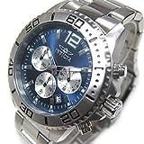 INVICTA(インビクタ) 17397 Pro Diver/プロダイバー クロノグラフ シルバー ブルーダイアル メタルベルト ダイバーズウォッチ メンズウォッチ 腕時計 [並行輸入品]