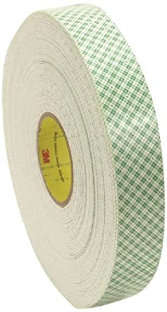 "3M Double Coated Urethane Foam Tape 4016, 1"" x 36 yd 1/16"", Off-White (Packof 9)"