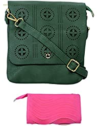 SRI Imported Fancy Designer Combo Of Handbag With Clutch For Girls And Women - B01JZ168PU